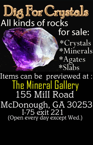Visit our new Georgia Rock shop  to buy Georgia Amethyst crystals and more!