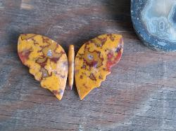 butterfly made from paint rock agate